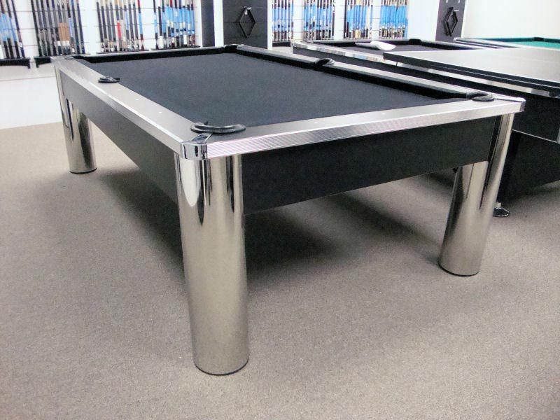 Spectrum Pool Table Contemporary Design Chrome And Black Finish - Spectrum pool table