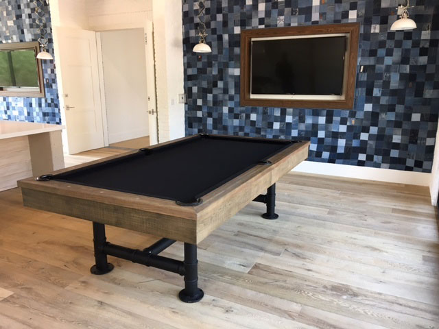 The Bedford Pool Table By Imperial Industrial Design With Dining Top