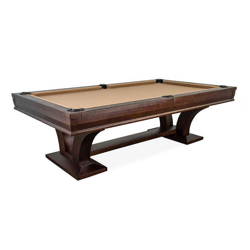 The Hamilton Dining Pool Table Foot Espresso Finish With Top - Hollywood billiard table for sale
