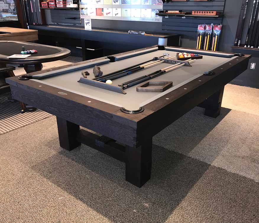 Reno Pool Table With Optional Dining Top Rustic Dark