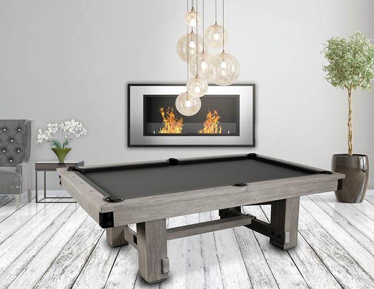 The Silverton 8 Foot Pool Table Rustic Wood Natural Grey