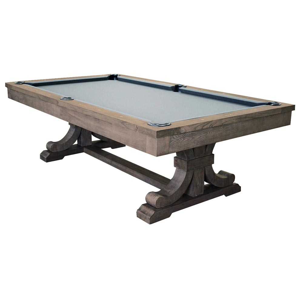 The Carmel Pool Table Dining Weathered Oak Finish Convertible - Pool table equipment near me