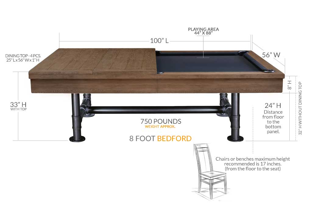 The Top Of Table With Dining Attached Is 1 ½ 33 Play Area 44 X 88