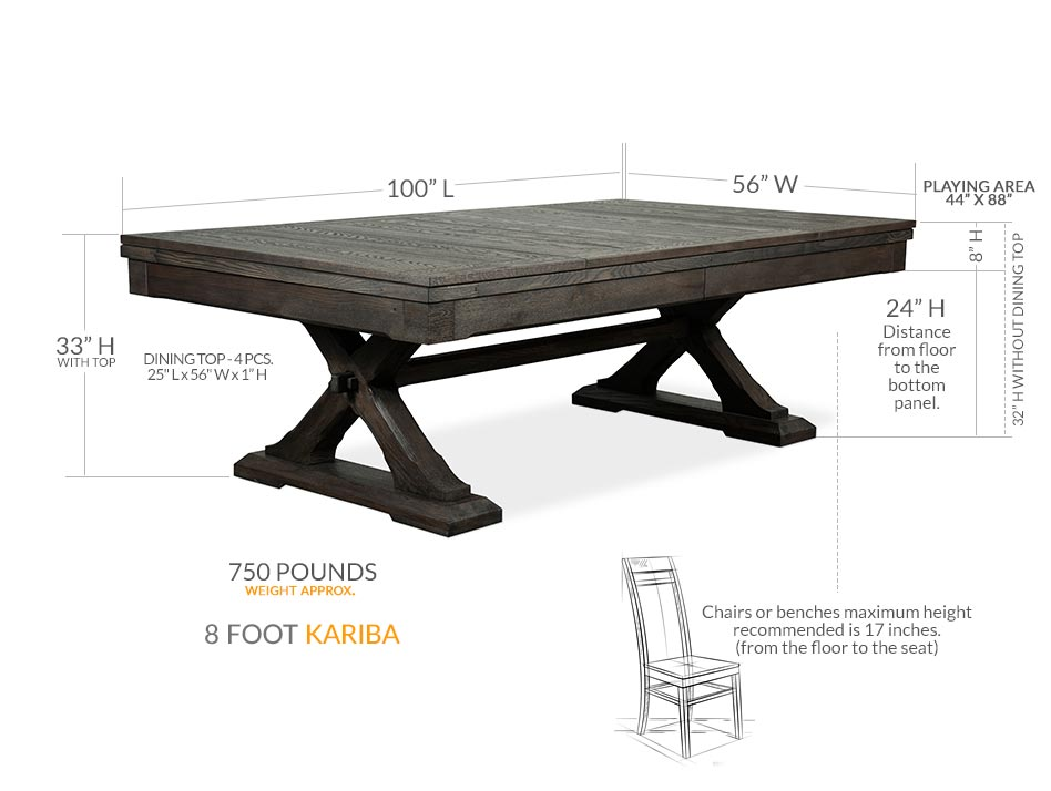 Kariba Dining Pool Table