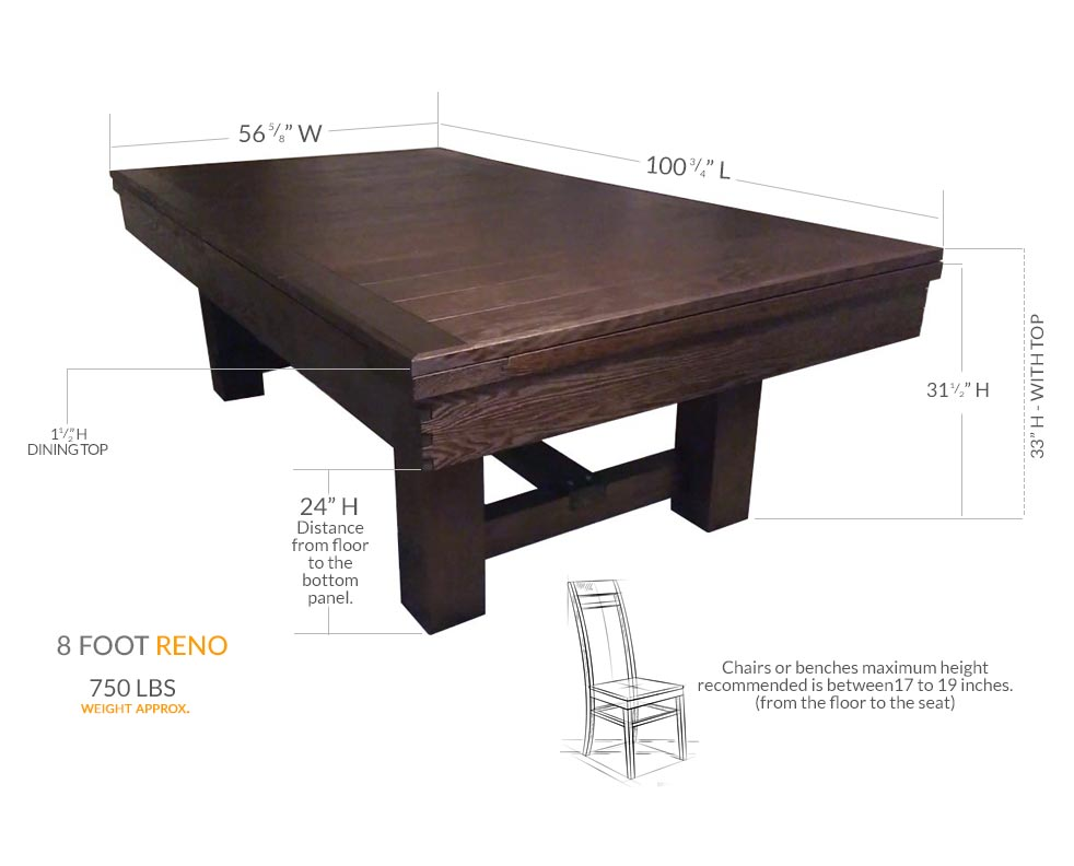 Reno Dining 8 Foot