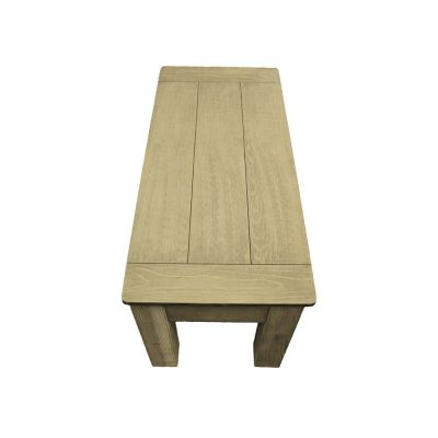 Weathered Grey 36-Inch Long Bench