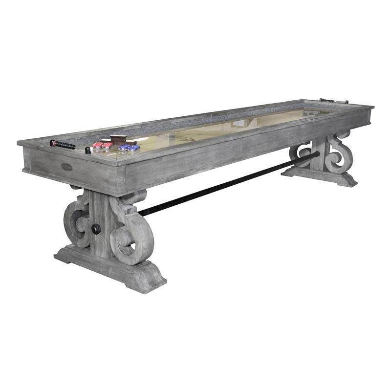Barnstable 12 ft. Shuffleboard Table Silver
